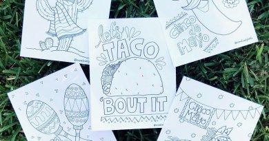 Cinco de Mayo Printables FREE Coloring Pages Creatively Beth #creativelybeth #free #printables #coloring #pages #cincodemayo