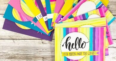 Cards with handwritten words of encouragement in rainbow colors by Creatively Beth #creativelybeth #cards #rainbow #tombowdualbrushpens #handlettering