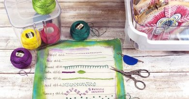Four easy embroidery project ideas for beginners Creatively Beth #creativelybeth #embroidery #organization #deflecto