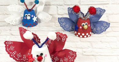 Patriotic Clay Pot Love Bugs created with Dollar Tree supplies by Creatively Beth #creativelybeth #dollartreecrafts #patrioticcrafts #claypotcrafts #fourthofjuly