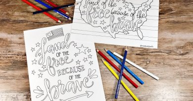 Four Hand Drawn Printables for the Fourth of July Creatively Beth #creativelybeth #free #printable #coloringpage #printandcolor #fourthofjuly #handdrawn