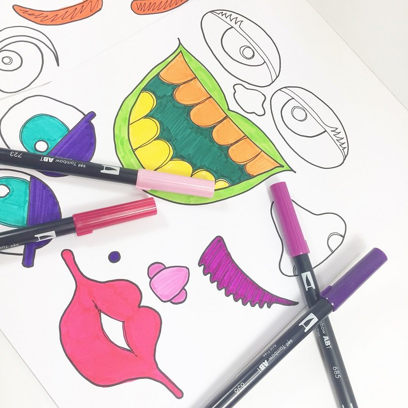Get creative with your color combinations Creatively Beth #creativelybeth #monsterpumpkins #nocarvepumpkins #freeprintable #kidscraft #halloweencraft