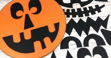 How to Make a Whimsical Embroidery Hoop Jack-O-Lantern with Interchangeable Features Creatively Beth #creativelybeth #halloween #jackolantern #feltcrafts #kidscrafts