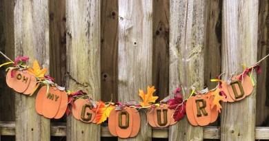 Easy DIY Pumpkin Garland with a Funny Fall Message Creatively Beth #creativelybeth #fall #garland #pumpkin #crafts #ohmygourd