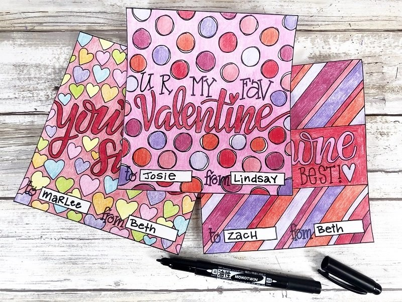 Address the Valentine Candy Bar Wrappers Print and color Free Candy Bar Wrappers for Valentine's Day Creatively Beth #creativelybeth #freeprintable #candybarwrappers #valentinesday