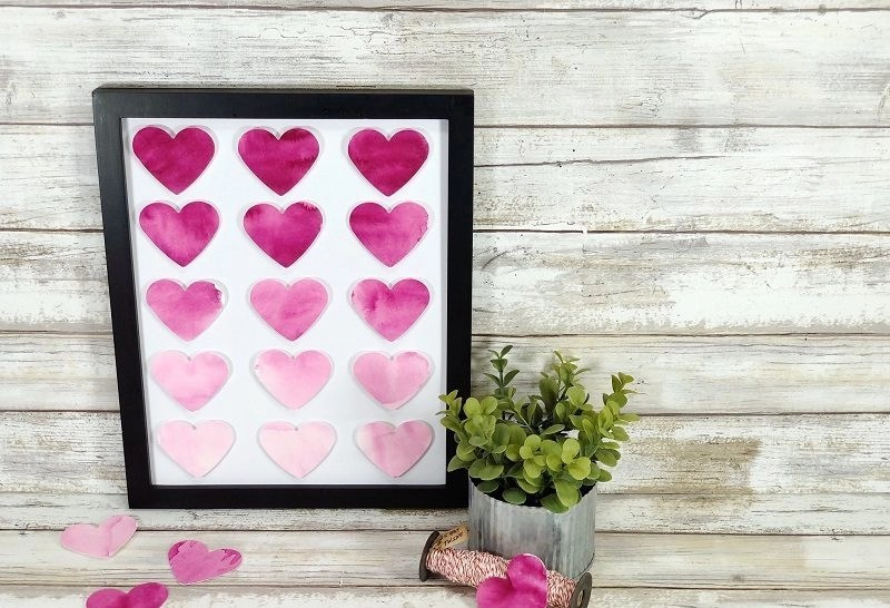 Create Ombre Art from the Heart with Tombow Dual Brush Pens by Creatively Beth #ombreart #tombowdualbrushpens #watercolor #heartart