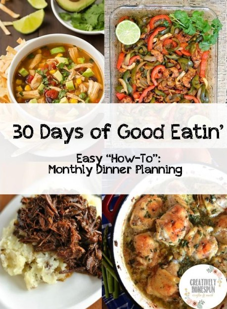 Easy 30 Day Meal Planning