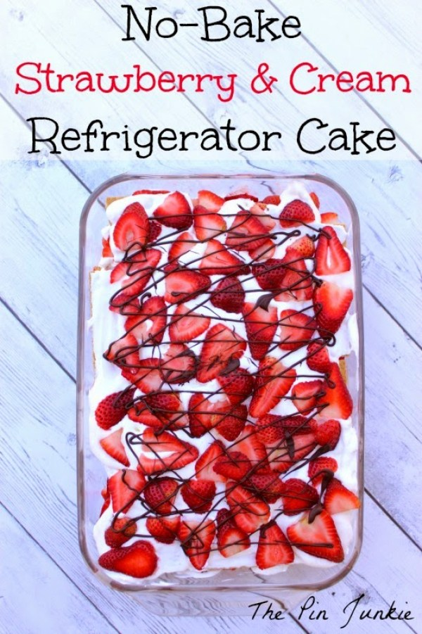 strawberry cream regrigerator cake