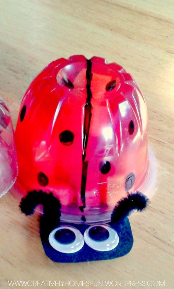 Sweetie Ladybug Jello Cup! #jello #snack #school #easycraft