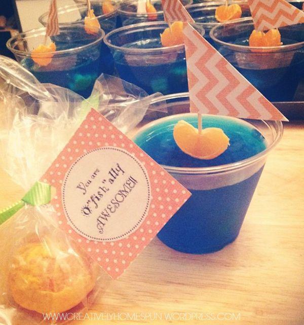 You're O'fish'Ally Awesome!! Orange and Jello Sailboat School Snack #jello #school #snack