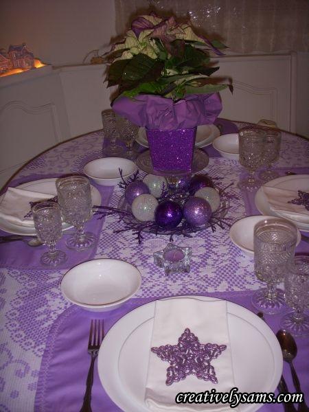 Purple Christmas TablescapeCreatively Sams