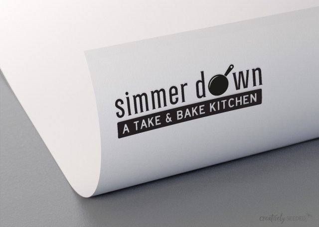 Simmer Down a Take and Bake Kitchen West Point Logo Design Creatively Seeded