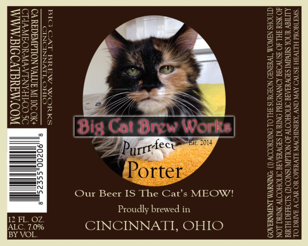 Big Cat Brew Works label