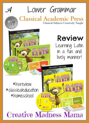 Creative Madness Mama raves about how awesome the Lower Grammar K-4 Song School Latin program is from @ClassicalPress #hsreview #classicaleducation #homeschool
