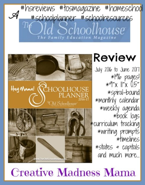 Hey Mama! 2016-2017 Planner Review #hsreviews #tosmagazine #homeschool #schoolplanner #schoolresources