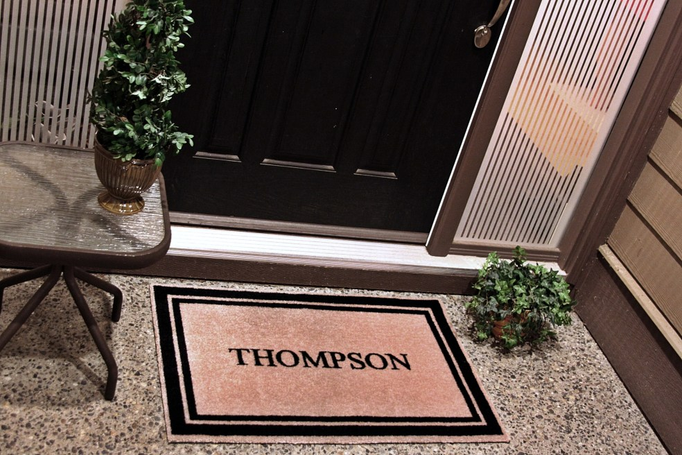 Personalize your door mats however you want; any design, any colour