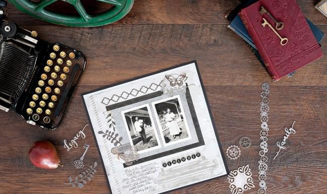 vintage scrapbook layout archiver s collection creative memories
