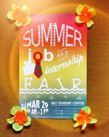 hcc-summer-job-internship-fair-poster