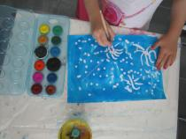 activités manuelles les feux d'artifice drawing gum peinture