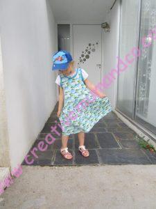 Tuto robe fillette en jersey la robe poissons