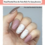 Rose Gold Pink Marble False Nails Creative Nails