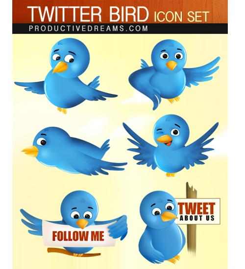 twitter-bird-icon-set