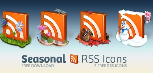 decorative seasonal RSS Icon Pack