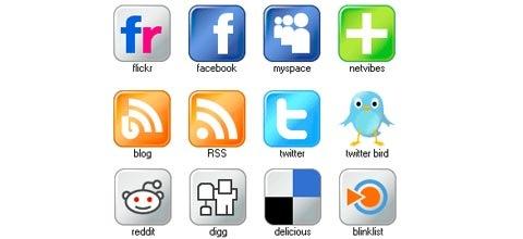 free-shiny-social-mdia-icons