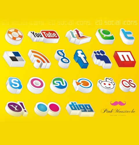 3d-soicial-icons