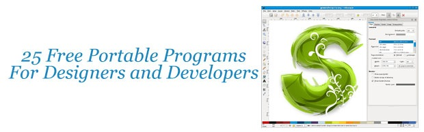 25 Free Portable Programs For Designers and Web Developers