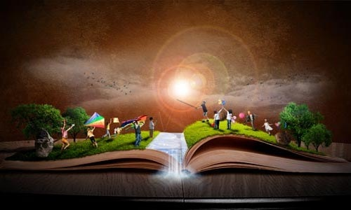 book-lens-flare