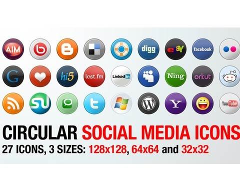 circular-social-media-icons