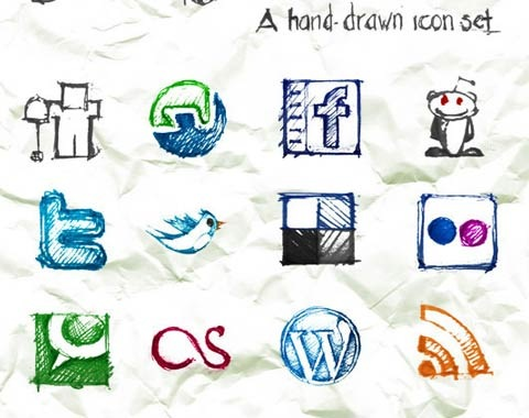 hand-drawn-icon-set