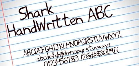 shark-hand-written