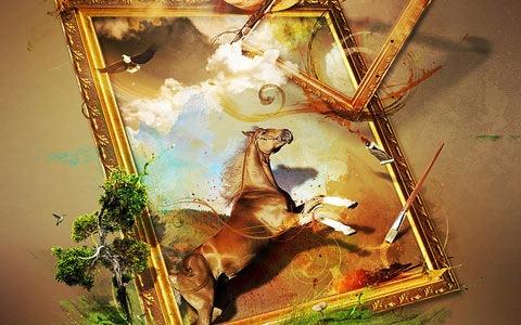 horse-frame