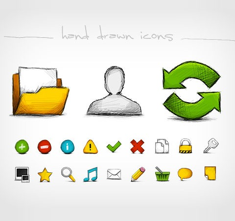 handdrawn-icons