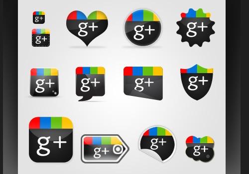 large-google-plus-icons-set