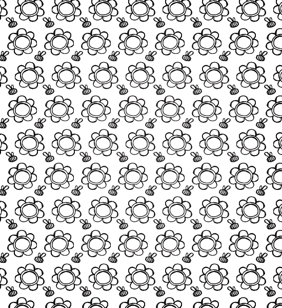 petal-and-bees-pattern