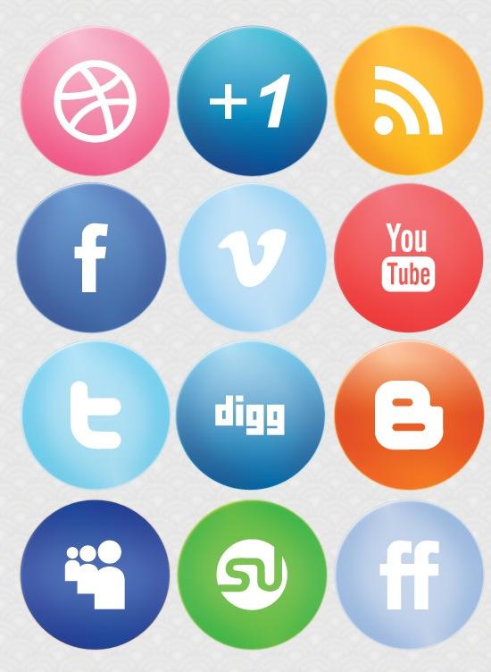 large-glossy-social-media-icons