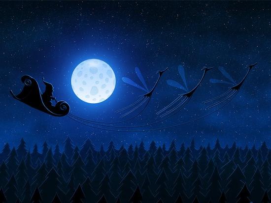 santa-flying