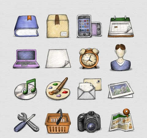 sketched-icons