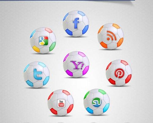 football-social-media-icons