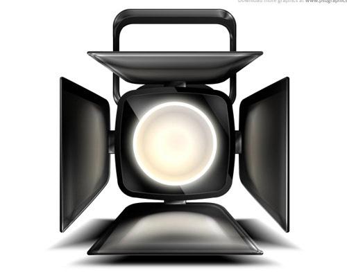 spot-light-icon-psd-file