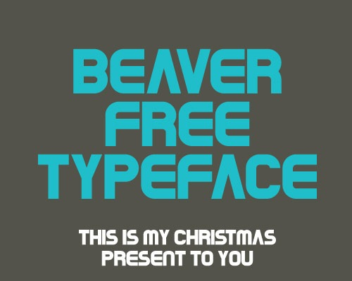 beaver-free-typface