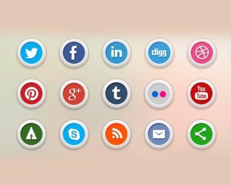 circularsocialmediaicons 40 Best Free Icon Sets Released 2012