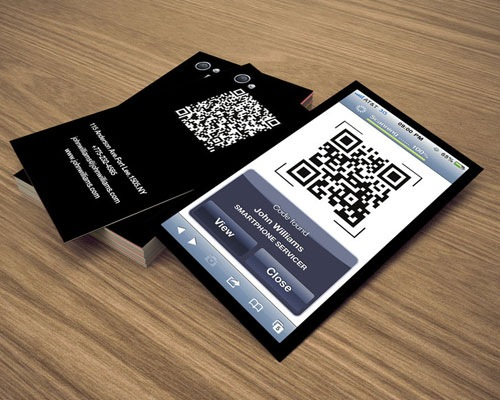 iphone-business-qr
