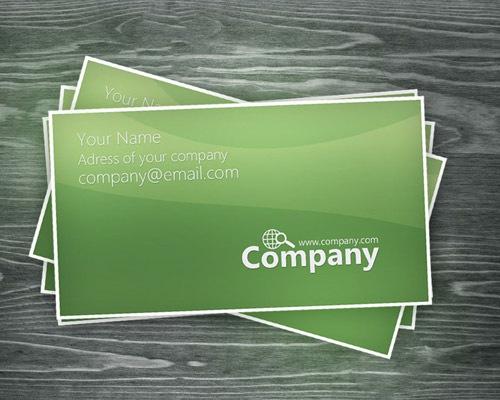 green-business-card