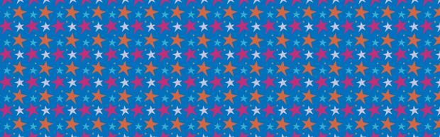 blue-funky-star-pattern