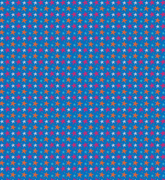 blue-funky-vibrant-star-pattern