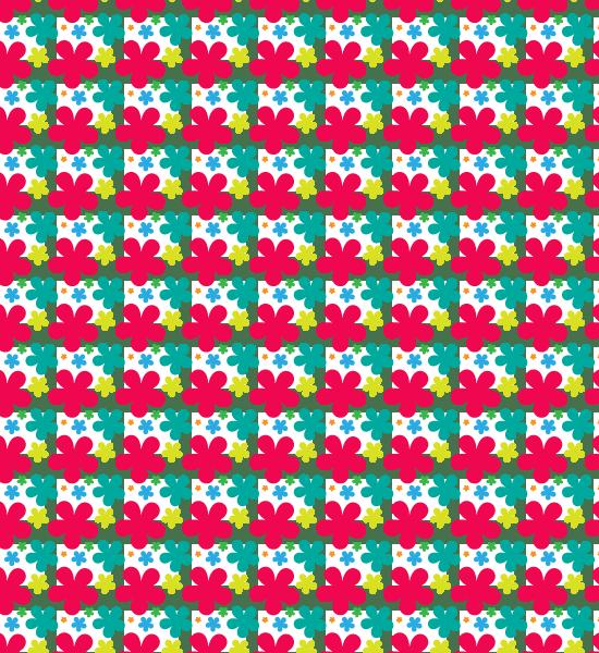 red-petal-pattern